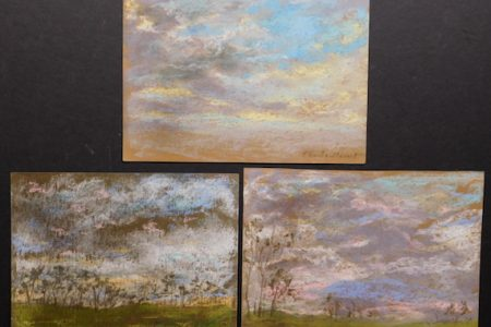 SET OF THREE PASTEL DRAWINGS BY CLAUDE MONET WILL BE OFFERED AS A SINGLE LOT IN WOODSHED ART AUCTIONS ONLINE ART AUCTION, MARCH 15th