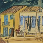SPANISH STREET SCENE BY LUDWIG BEMELMANS (Fr./Am., 1898-1962), FINISHES AT $13,750 IN AN AUCTION HELD APRIL 14th BY BRUNEAU & CO. AUCTIONEERS