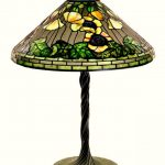 THREE CREATIONS BY TIFFANY STUDIOS – A TABLE LAMP, A GLASS VASE AND A PAIR OF LAMP SCREENS – BRING A COMBINED $213,750 AT BRUNEAU & CO. SALE