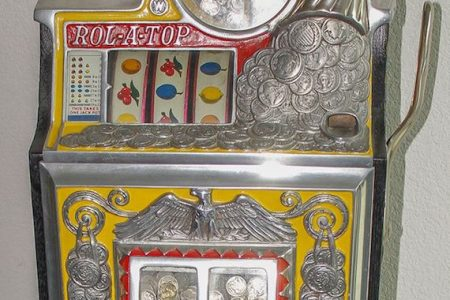 1930s WATLING THREE-REEL 5-CENT SLOT MACHINE HITS THE JACKPOT FOR $3,250 AT HOLABIRD'S FOUR-DAY AUCTION HELD MAY 7th-10th IN RENO, NEV.