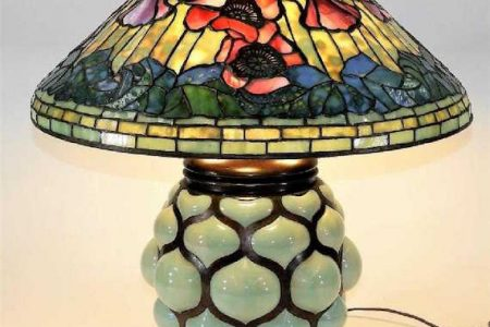 TIFFANY STUDIOS FLOOR AND TABLE LAMPS FOR BRUNEAU  & CO. AUCTIONEERS ESTATE ANTIQUES & FINE ART AUCTION