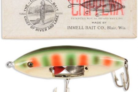 BIDDERS REEL IN CHIPPEWA SPINNER LURES MADE CIRCA 1910 AT MILLER & MILLER'S SALE OF THE BOB RONSON COLLECTION, HELD OCTOBER 19th & 20th