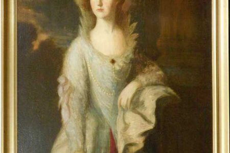 THOMAS GAINSBOROUGH STUDY FOR HIS PORTRAIT THE HONOURABLE MRS. GRAHAM WILL HEADLINE WOODSHED AUCTION