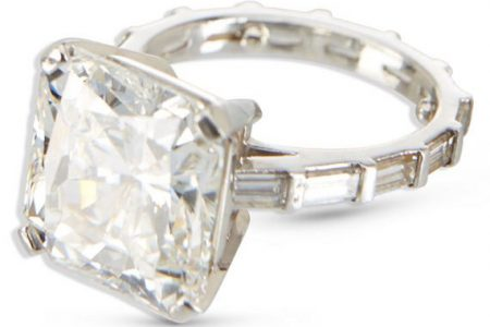 PLATINUM RING WITH AN 11-CARAT DIAMOND CENTER STONE CLIMBS TO SIX FIGURES AT MILLER & MILLER'S JEWELLERY & WATCHES AUCTION