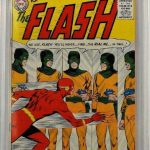 EARLY COPY OF DC COMICS FLASH #105 (FEB.-MAR. 1959), IN SUPERB SHAPE AND GRADED CBCS 9.0, CLIMBS TO $20,000 AT BRUNEAU & CO.'s TOYS & COMICS SALE