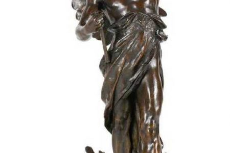 BRONZE SCULPTURE BY EMILE LOUIS PICAULT (FR., 1860-1915), A MASCOT FOR THE TEN-MILE CORINTHIAN AUTOMOBILE CHAMPIONSHIP OF 1906 IN FLORIDA, BRINGS CA$43,660 AT MILLER & MILLER AUCTIONS, LTD
