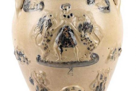 MORTON & COMPANY STONEWARE WATER COOLER FROM THE 1850s BRINGS $30,680 AT MILLER & MILLER'S CANADIANA & HISTORIC OBJECTS AUCTION