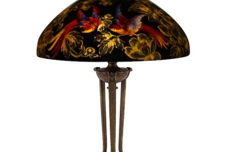 TWO HANDEL 'BIRDS OF PARADISE' TABLE LAMPS, A PAIR OF CANADIAN-MADE PEQUEGNAT CLOCKS AND A PAINTING BY CANADIAN ARTIST HOMER WATSON LEAD THE WAY AT MILLER & MILLER AUCTIONS JUNE 8 AUCTION IN CANADA