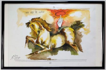 BRUNEAU & CO.'S JULY 23rd ANTIQUES & FINE ART AUCTION, INTERNET-ONLY, WILL FEATURE PAINTINGS BY INDIAN ARTISTS MAQBOOL HUSSAIN, B. PRABHA