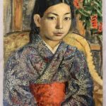 OIL ON CANVAS PORTRAIT OF A JAPANESE GIRL BY DAVID BURLIUK (1882-1967) SELLS FOR $39,100 AT WEISS AUCTIONS ONLINE SALE