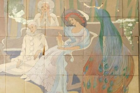 ROOKWOOD TILE MURAL AND A FIGURAL DRAWING BY JEHANGIR SABAVALA TO HEADLINE BRUNEAU & CO.'S ONLINE AUCTION