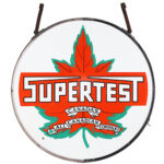 PAIR OF CANADIAN SUPERTEST SERVICE STATION SIGNS COMBINE BRING CA$41,300 IN MILLER & MILLER'S PETROLIANA & ADVERTISING SALE