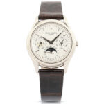 PATEK PHILIPPE REFERENCE 3940 PERPETUAL CALENDAR MEN'S WATCH CLIMBS TO $50,150 IN MILLER & MILLER'S WATCHES & JEWELRY AUCTION