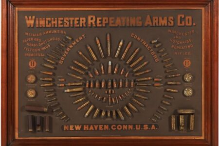 1884 WINCHESTER CARTRIDGE DISPLAY BOARD RINGS UP $100,300 IN MILLER & MILLER'S ONLINE-ONLY CANADIANA & SPORTING AUCTION