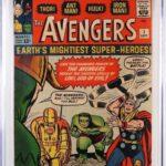MARVEL COMICS AVENGERS #1 (SEPT. 1963), GRADED CGC 8.0, HITS $23,125 AT BRUNEAU & CO'S COMIC, TCG & TOY AUCTION