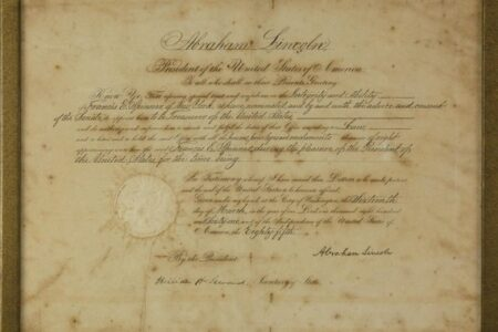 CIVIL WAR DOCUMENT SIGNED BY LINCOLN AND 1775 REVOLUTIONARY WAR MUSTER ROLL FOR RAFAEL OSONA'S ONLINE AUCTION